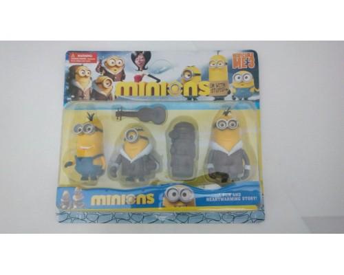 Игровой набор Миньоны (Minions) из 3-х фигурок, рюкзака и гитары