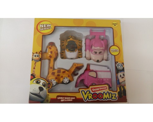 Набор энерционных игрушек из серии VROOMIZ (ВРУМИЗ) 4шт Арт.H1308B