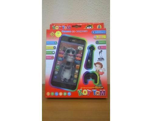 Телефон Кот Том с наушниками игрушка