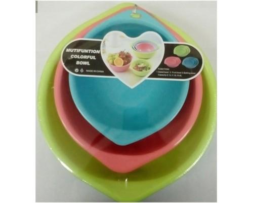 Набор из трех мисок Multifuntional Colorful Bowl