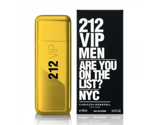 "Мужская туалетная вода ""212 VIP MEN GOLD"" CAROLINA HERRERA, 100ML, EDT"