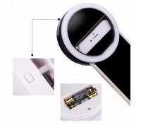 Светодиоидное селфи кольцо на батарейках Selfie Ring Light