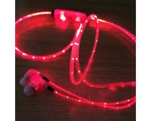 Светящиеся наушники ваккумные Light Earphone с LED проводом