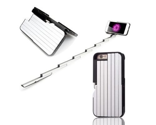 Чехол для iPhone News Fashion со встроенной селфи-палкой и с пультом