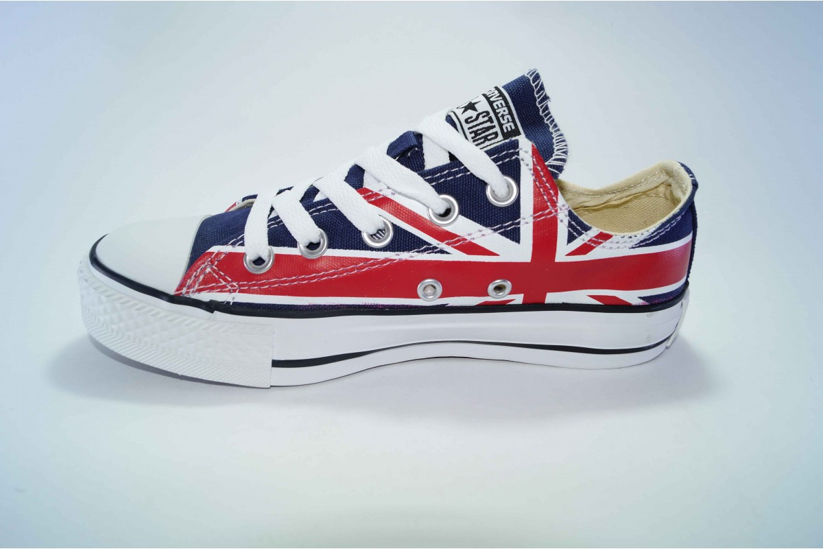 c341045e Кеды Converse (конверс) Chuck Taylor All Star низкие Британский флаг р-р 35-40  Артикул: con-n-3 (35-40)