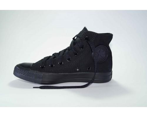 Кеды Converse (конверс) Chuck Taylor All Star высокие черные монохром р-р 36-40 Артикул: con-v-9