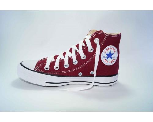 Кеды Converse (конверс) Chuck Taylor All Star высокие бордовые р-р 35-40 Артикул: con-v-21